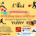south asian family sports day waterloo